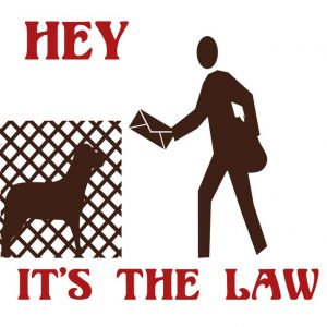 Dog law sign