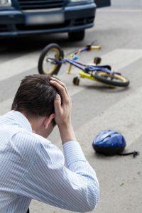 Man hit bike